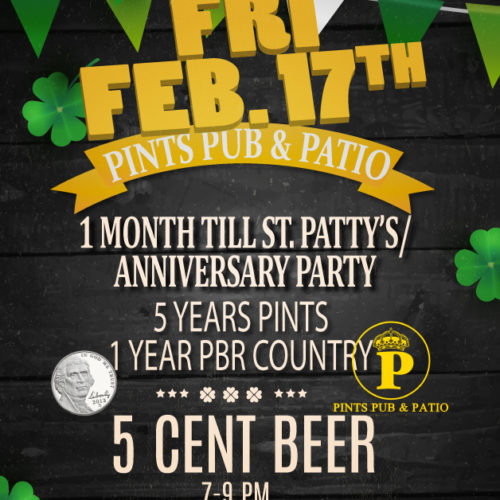 PBR anniversary party Flyer By Graphic Design Company, Rhonda Cosgriff Designs