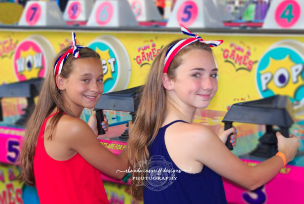 Children photograph at a carnival by Rhonda Cosgriff Designs