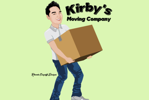 Kirby's moving company logo design