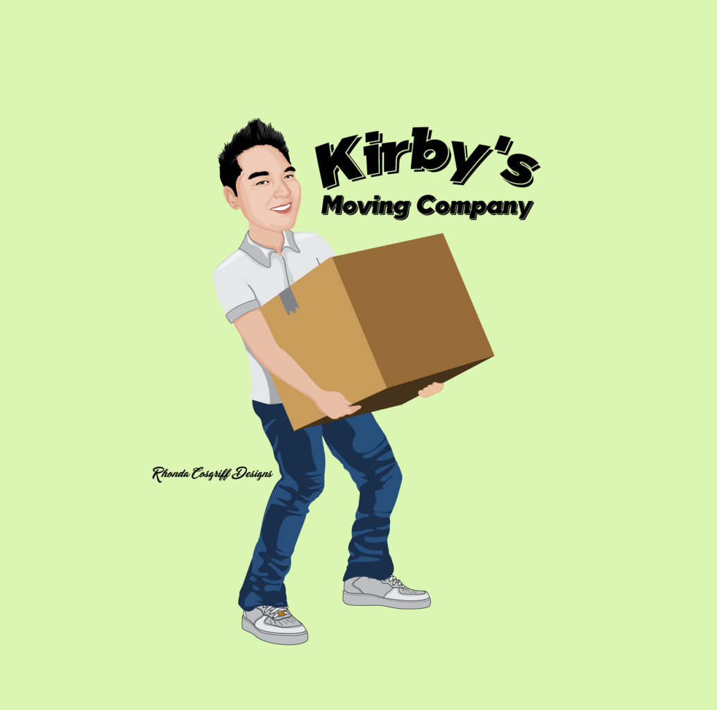Kirby's moving company logo design Des Moines, Iowa