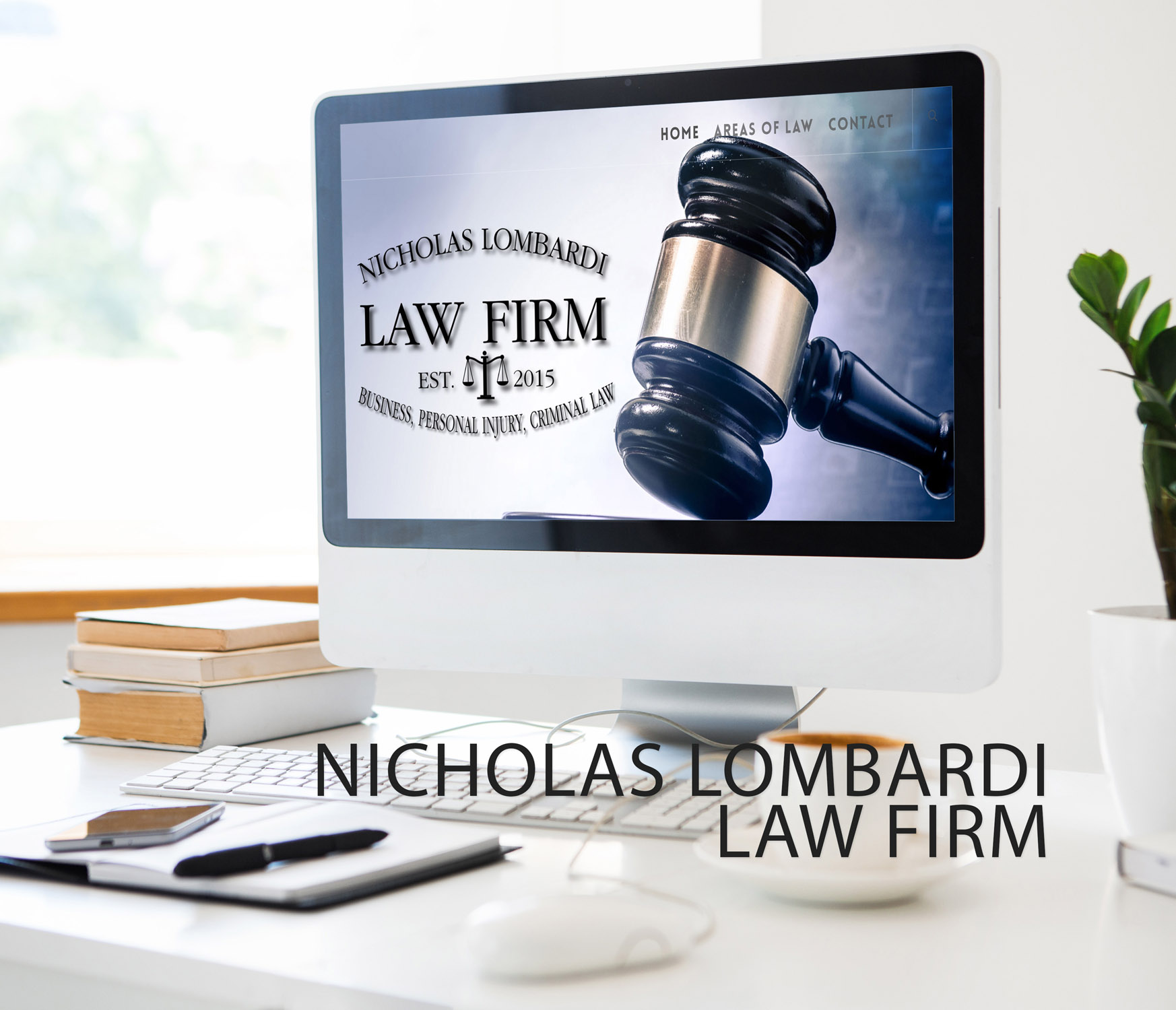 Web Design for Lombardi Law in West Des Moines Iowa