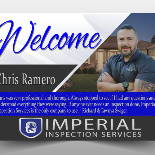 Imperial Inspection welcome by Rhonda Cosgriff Designs