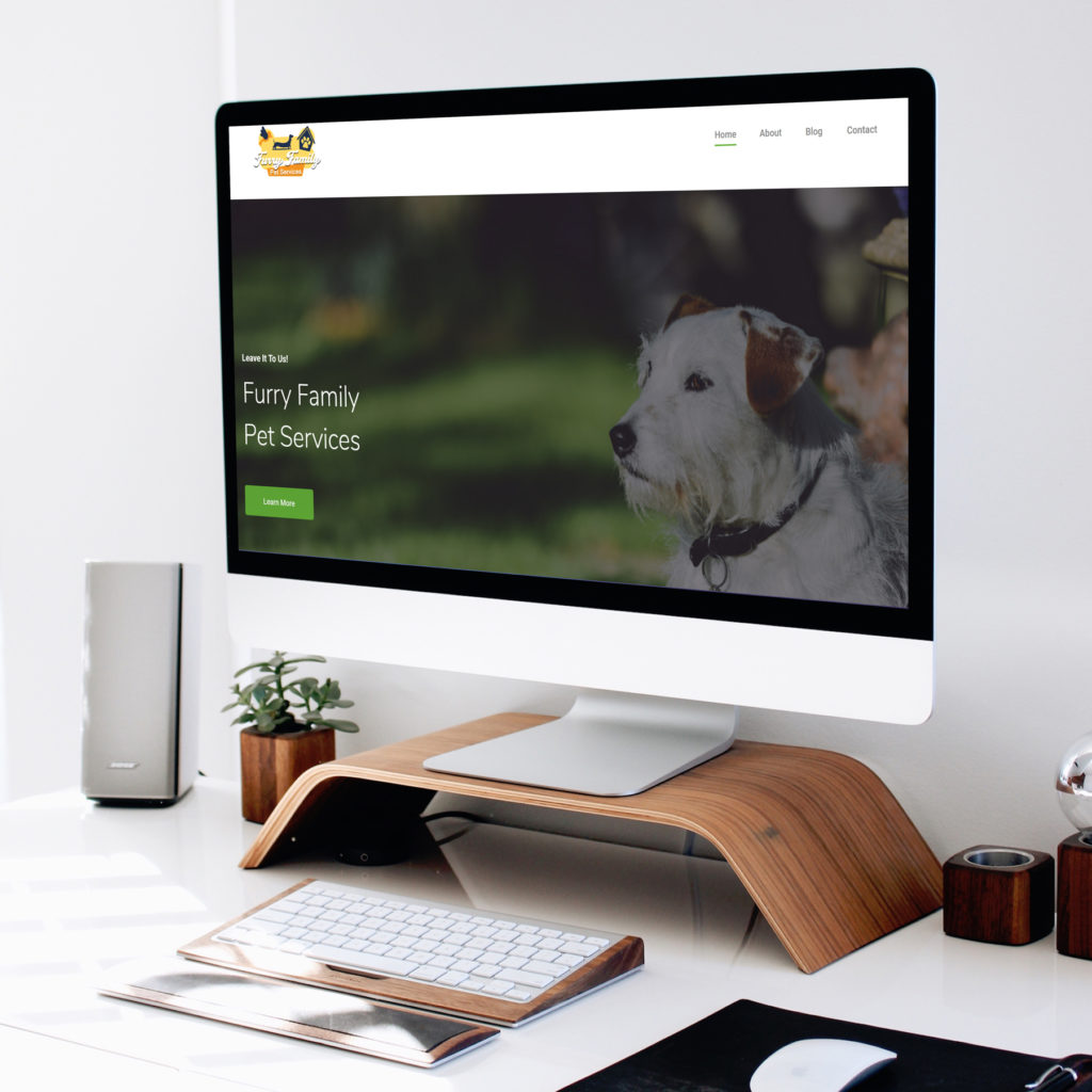 Furry Family Pet Service Website Design Des Moines, Iowa