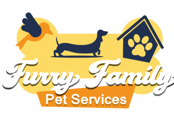 Furry Family Pet Services Logo Des Moines graphic design