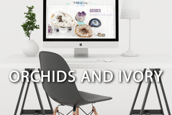 Orchids and Ivory website design