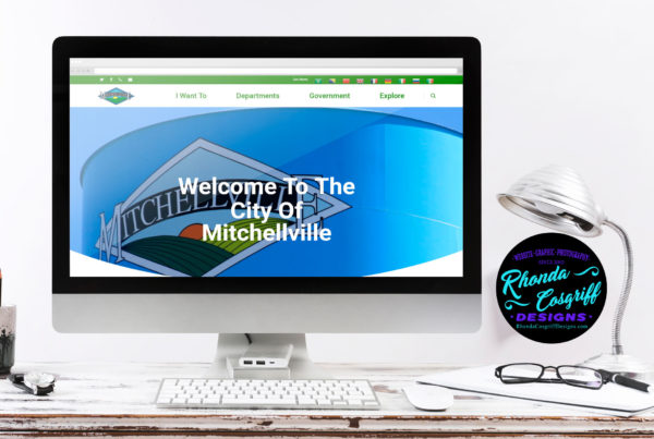 City of Mitchellville Website Design by Iowa Designer Rhonda Cosgriff Designs